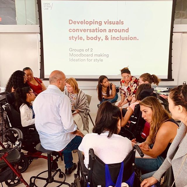 Day 1! Our Summer Program fellows + clients are kicking off their collab creations #style #inclusivedesign