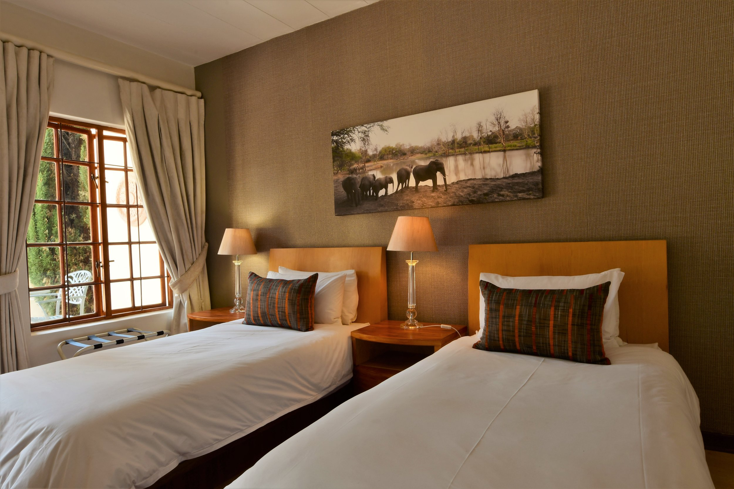 Luxury en suite room with private balcony