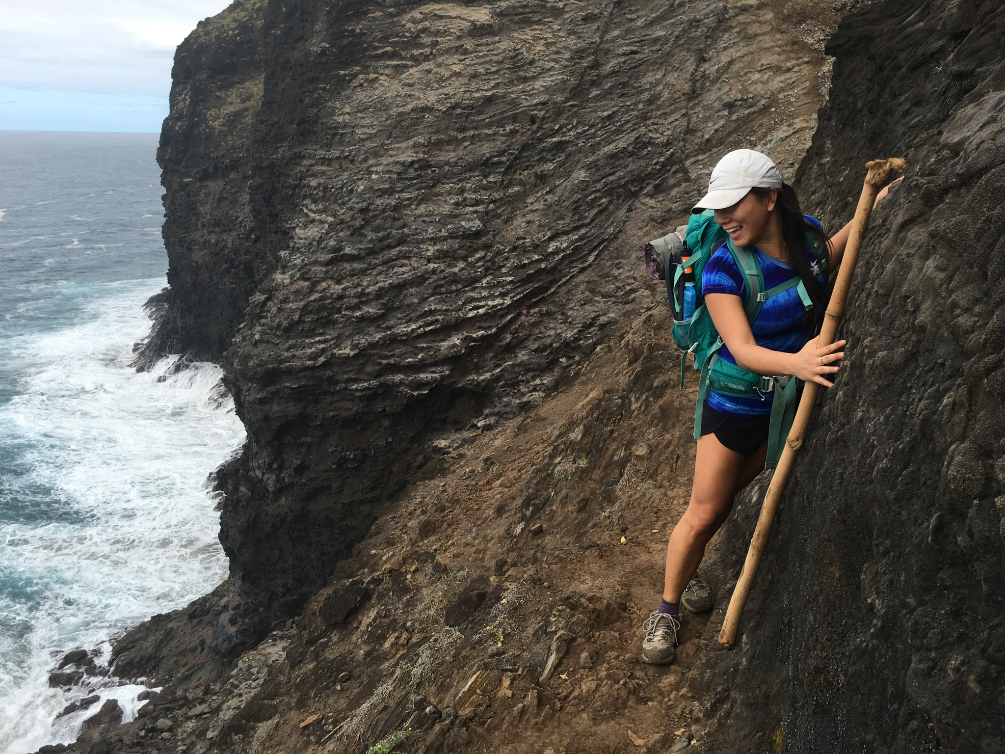 The Crawler's Ledge along the Kalalau Trail