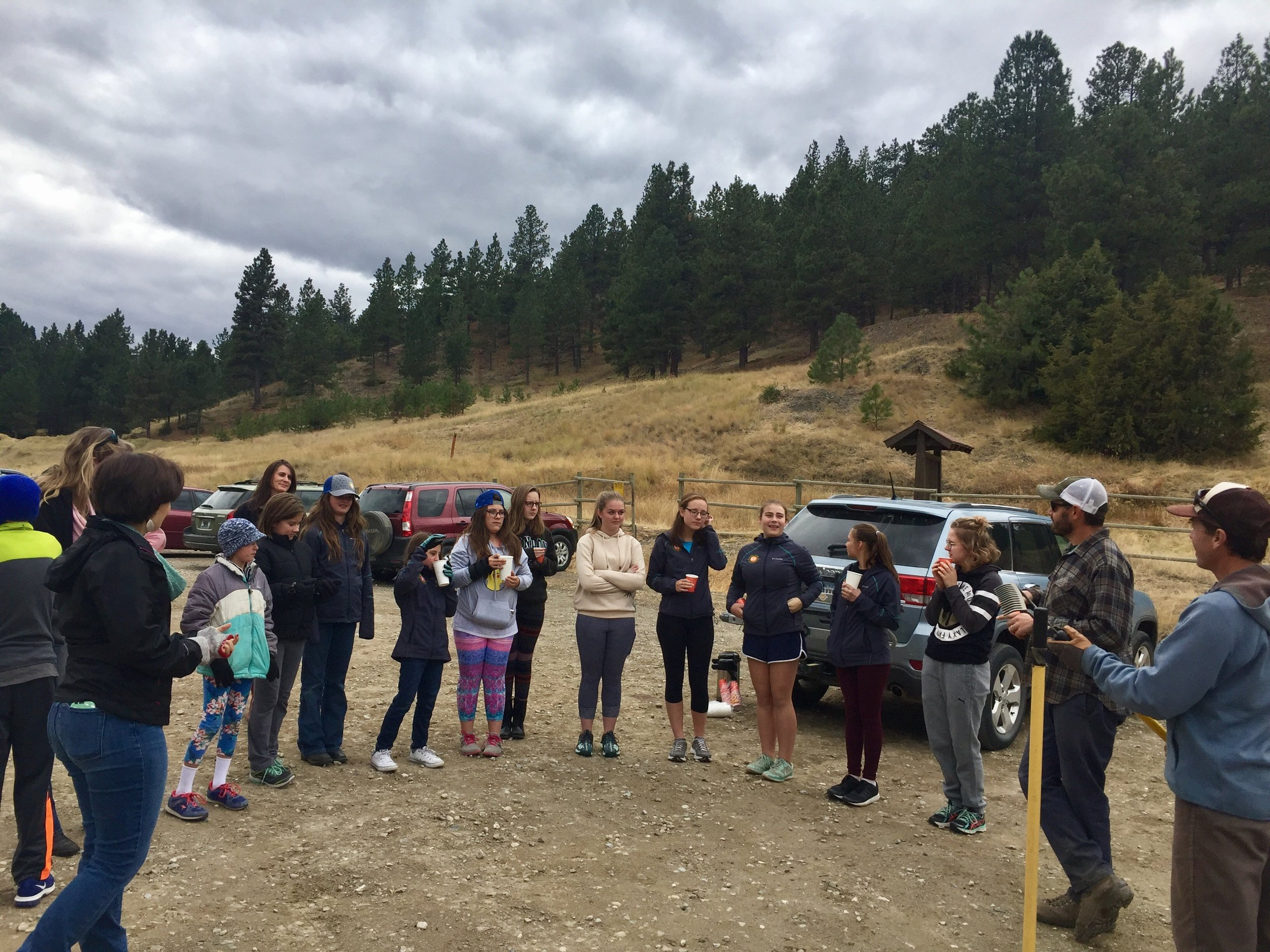 Girls Thrive participants volunteered with  Prickly Pear Land Trust  during the Spring 2017 session to learn about how to take good care of the trails we rely on for so much of our program.