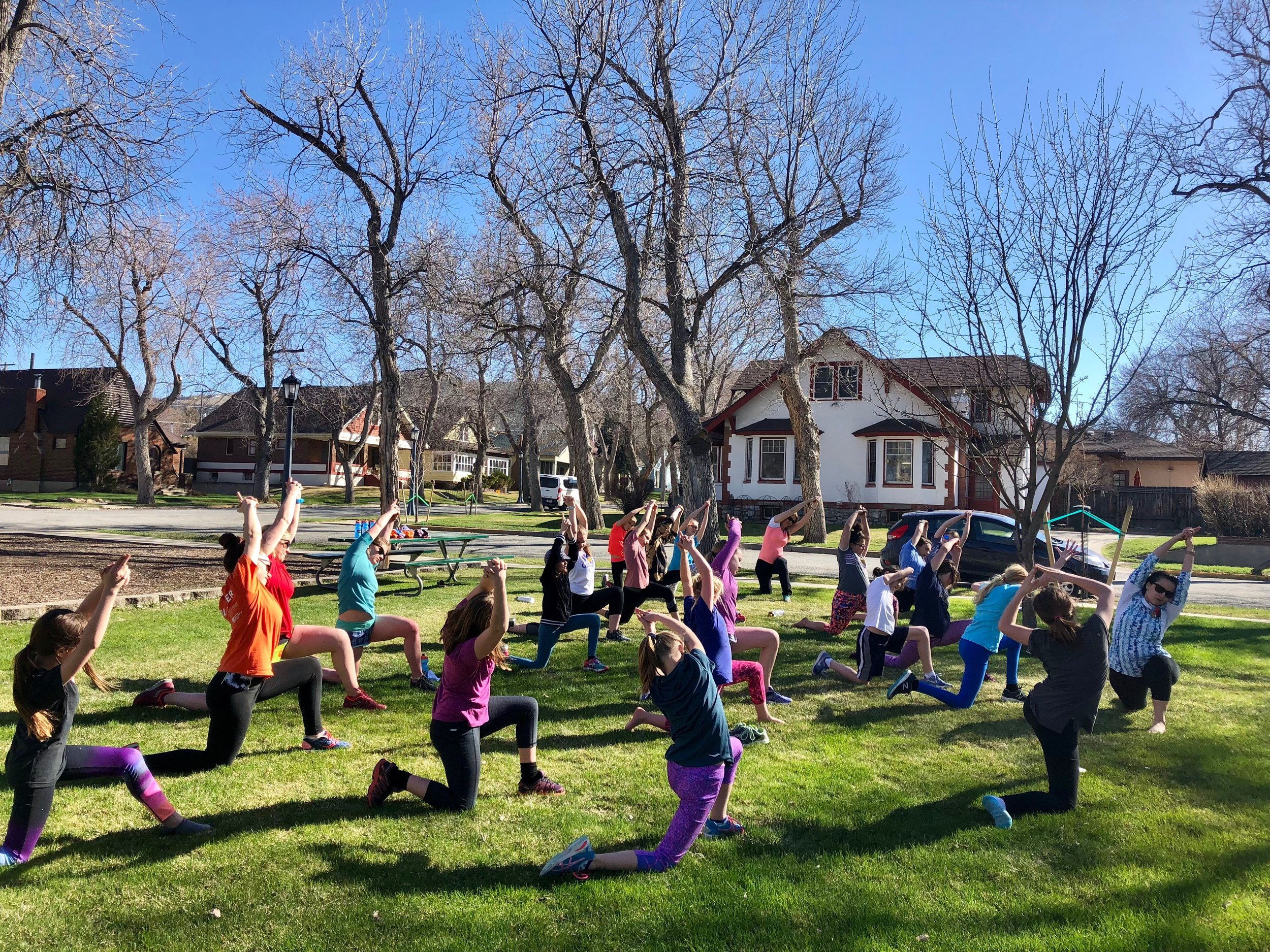 Enjoying some outdoor yoga with  Empower Yoga !