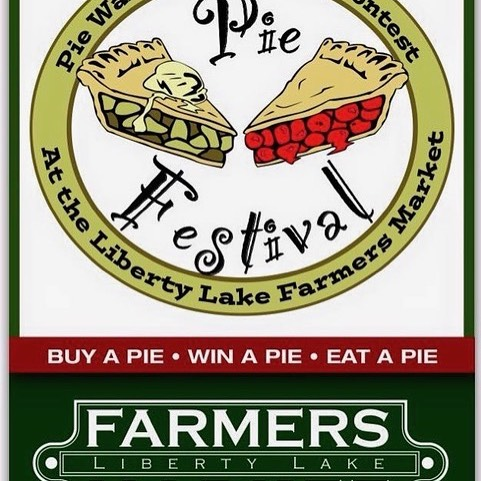 Come joinin the fun this weekend at the liberty Lake Farmers Market annual pie festival. 9 AM to 1 PM