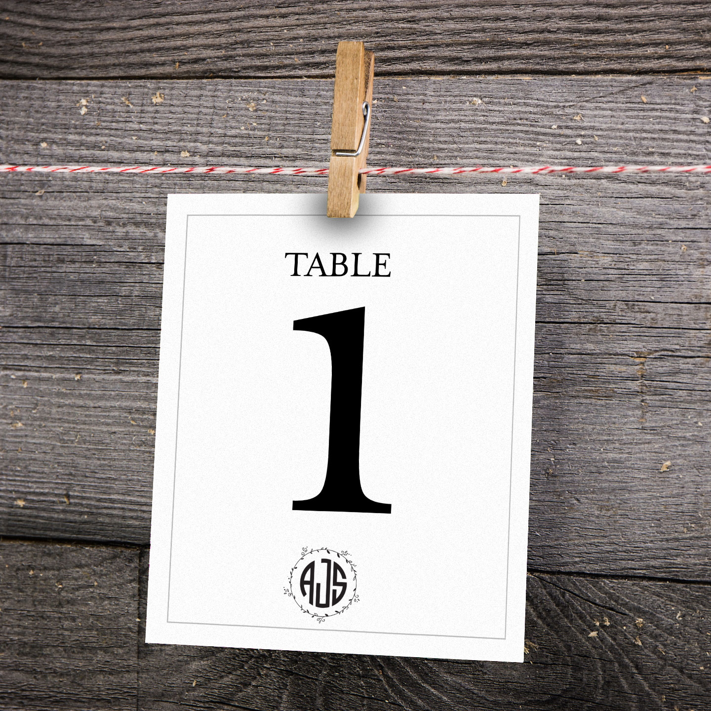 Table numbers and extras by Cleveland Invites
