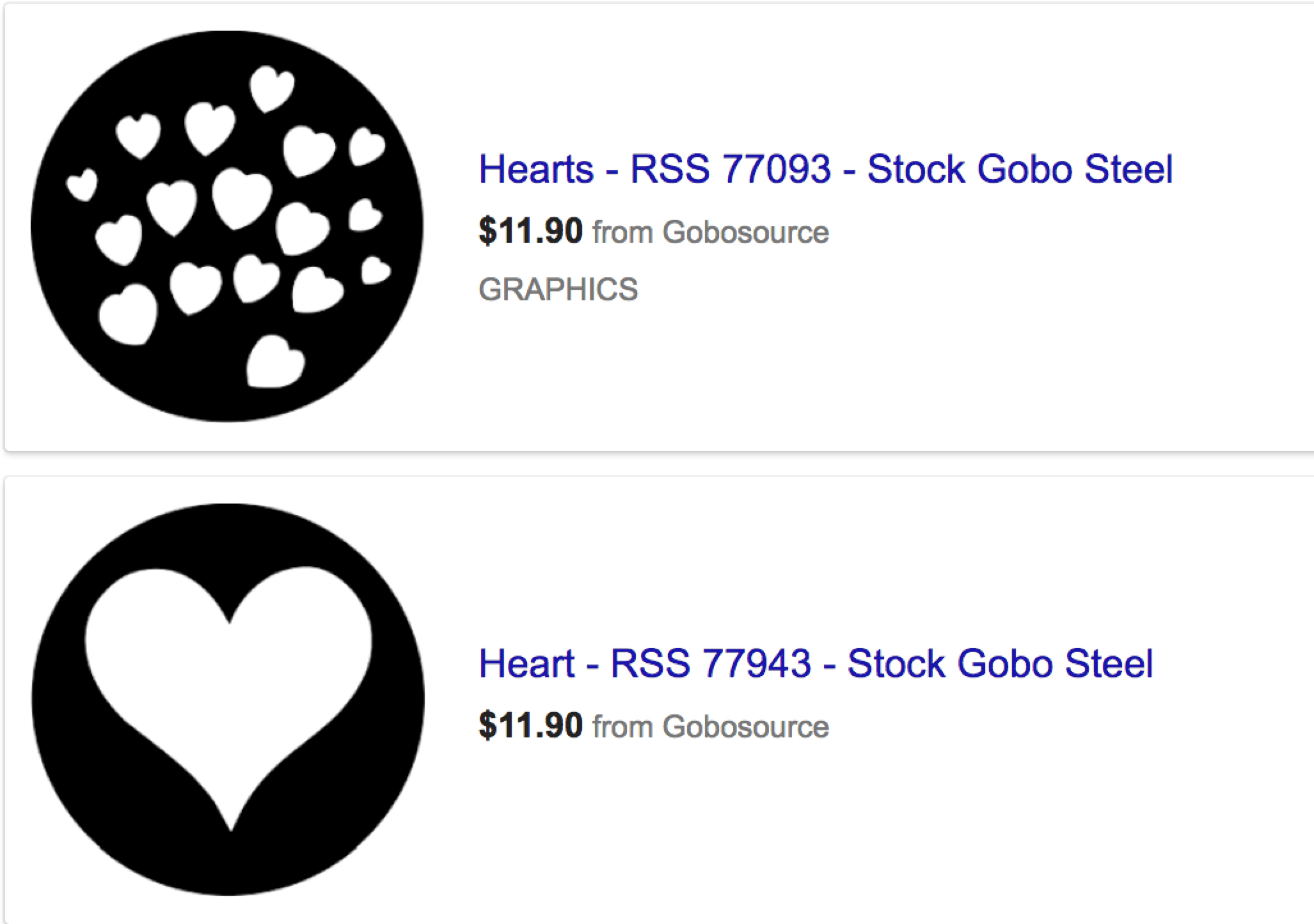 Hey! Steel Gobos are cheap, don't you suppose?