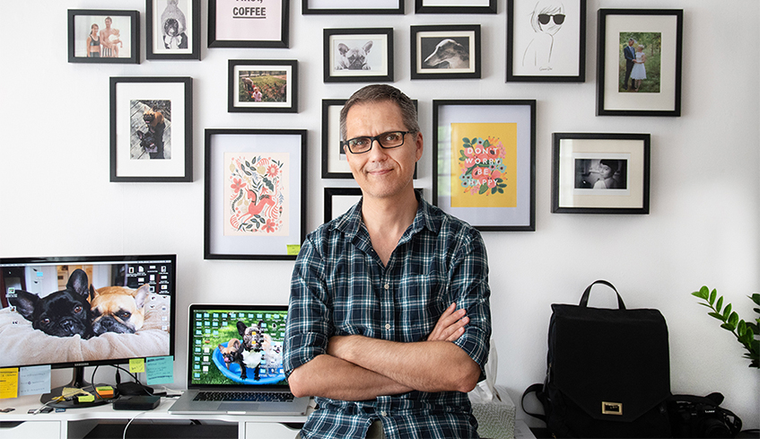 Writer, producer, screenwriting instructor Jordan Morris at his home - photo by Whitney South