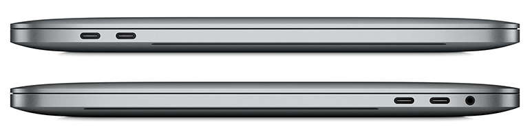 The new edition with only USB-C ports