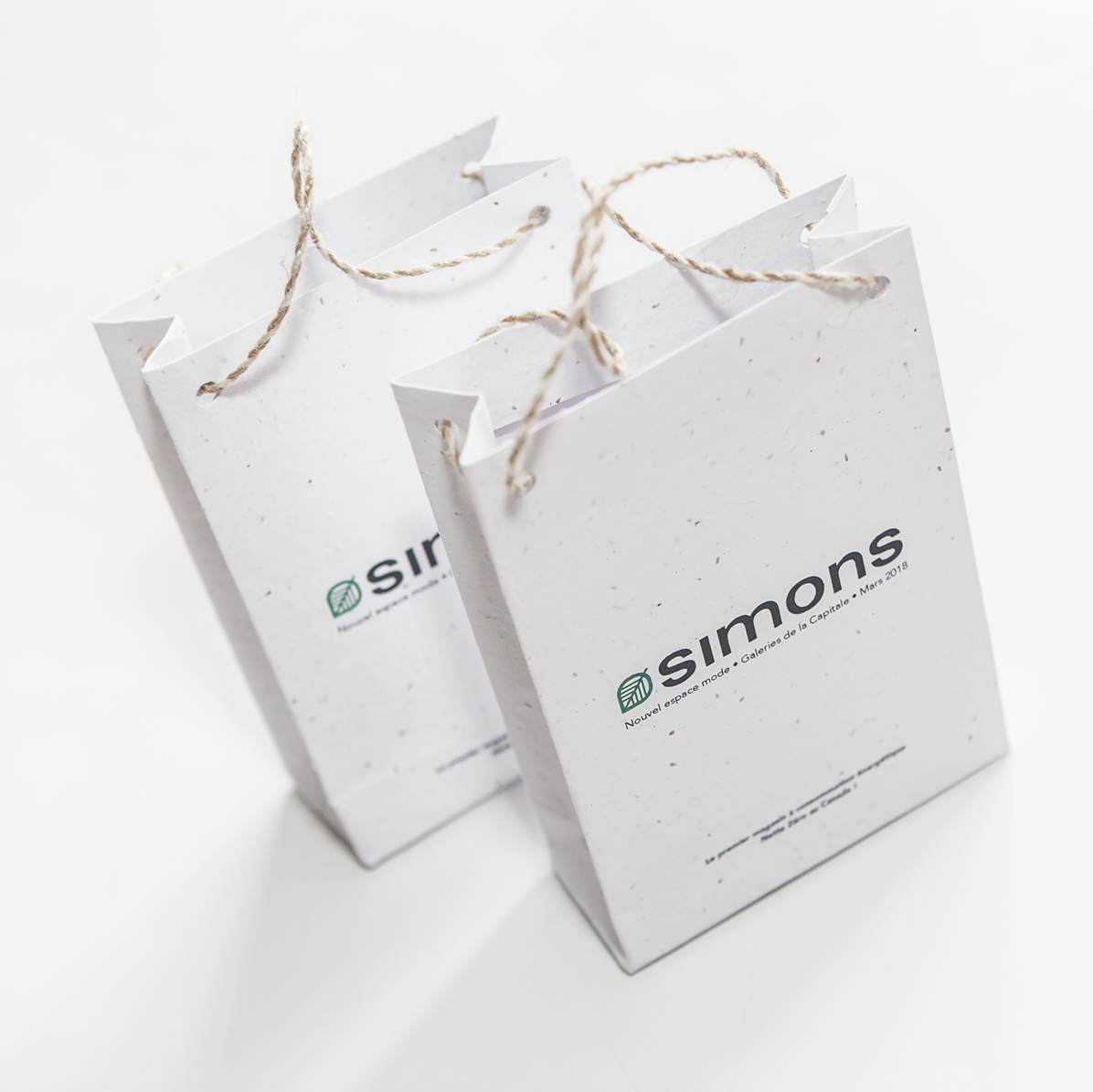 Seed Paper Shopping Bags