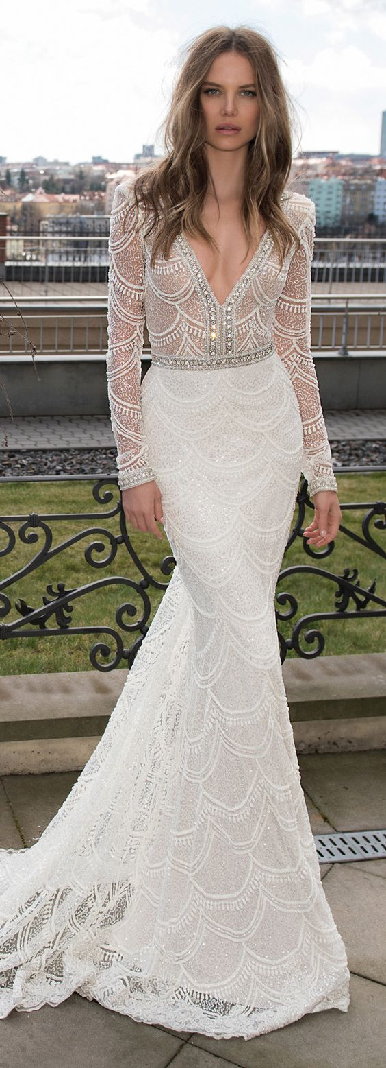 This was the original pin I had saved in maybe... 2015? for a dress style that I loved. Isn't it funny I ended up getting something so similar?  Image via:https://bellethemagazine.com/2015/05/wedding-dresses-by-berta-bridal-fall-2015.html