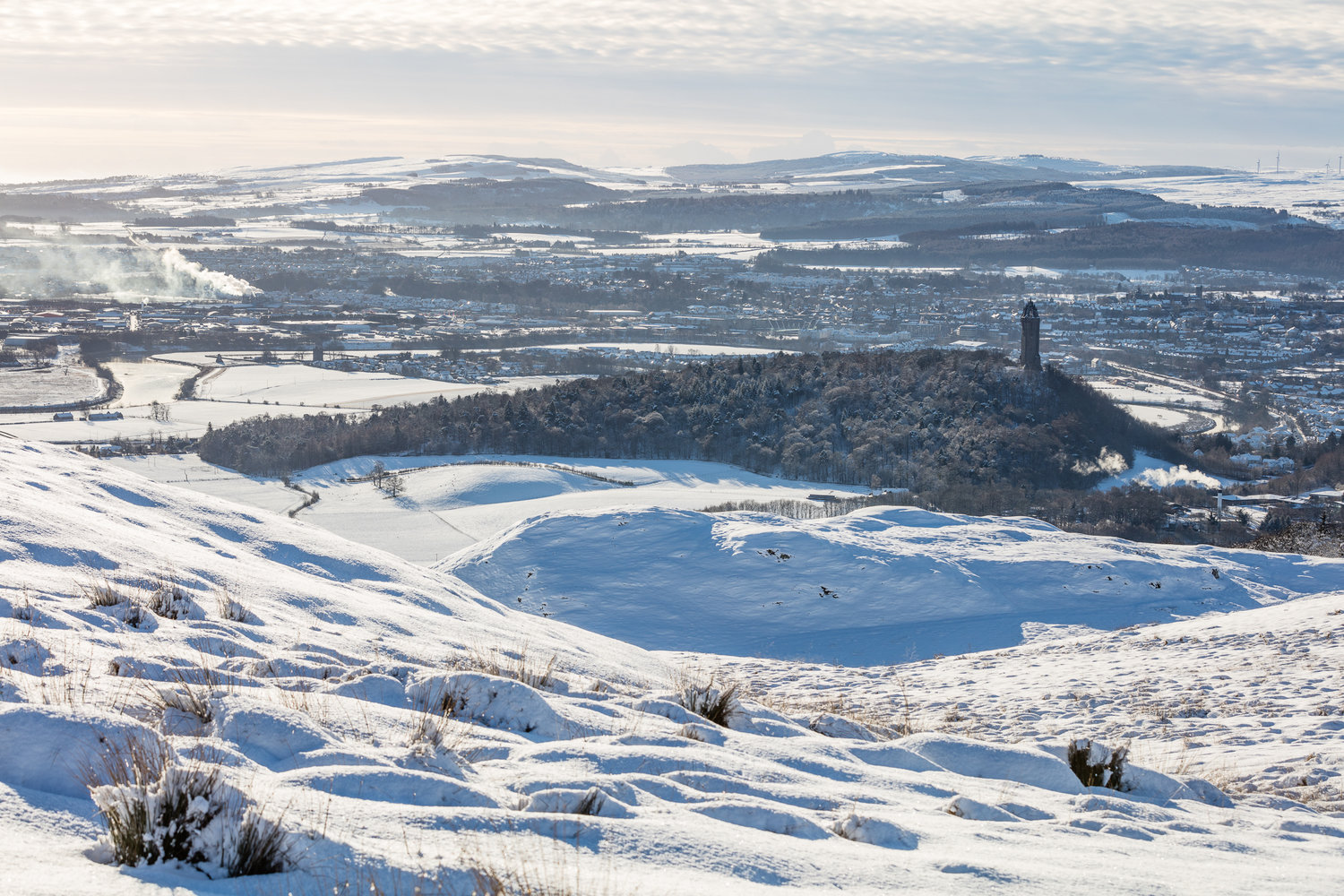 View on Wallace Monument from Dumyat