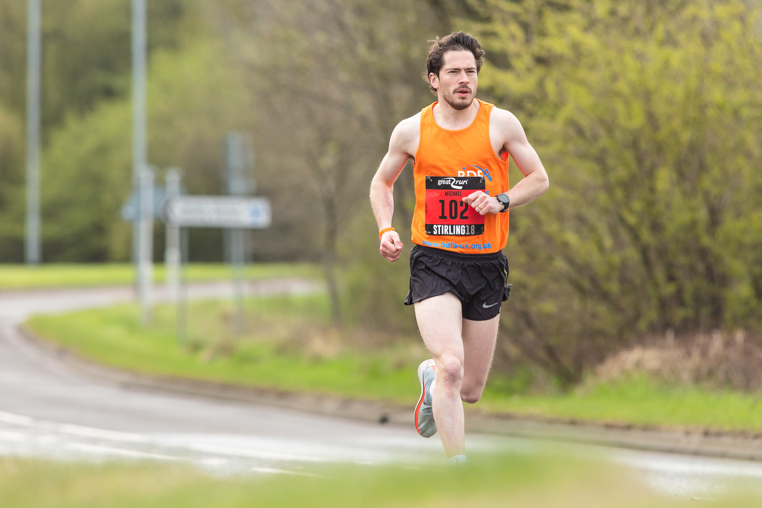 Michael Wright takes the lead and he kept it, making him the winner of Stirling Marathon 2018 with 2:29:38 !