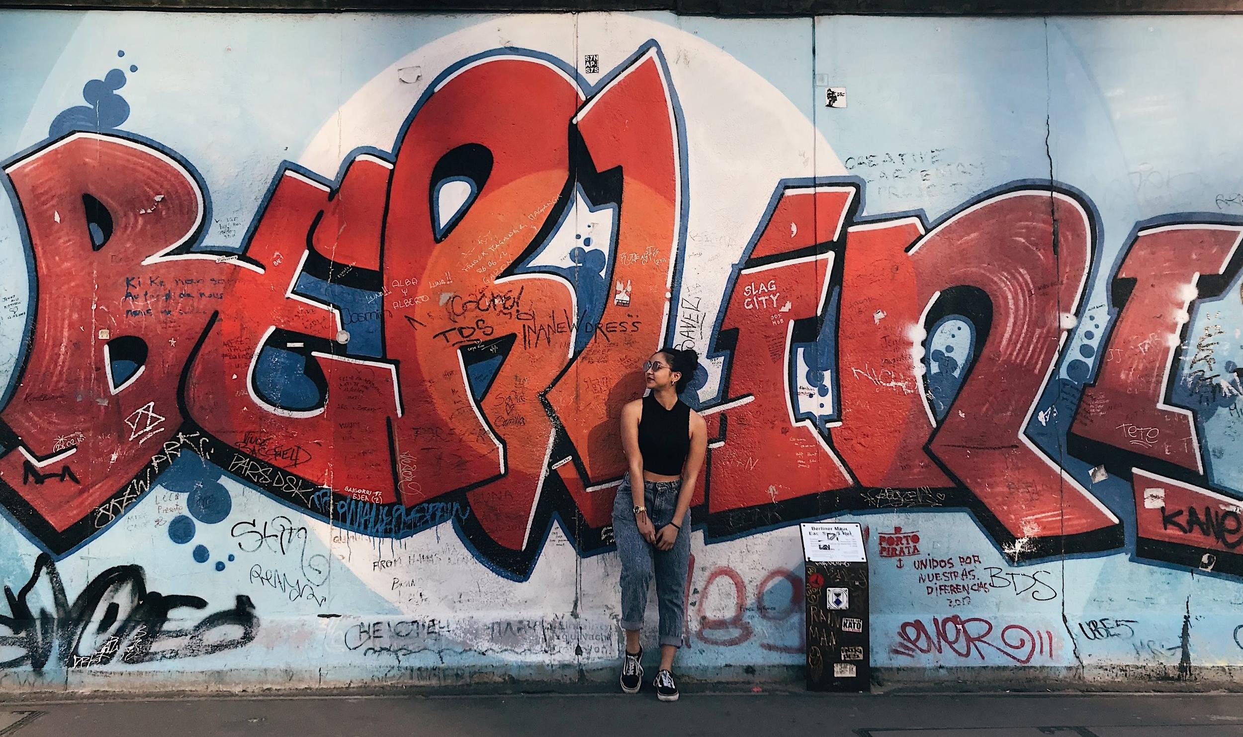 """Berlin"" wall at East Side Gallery"