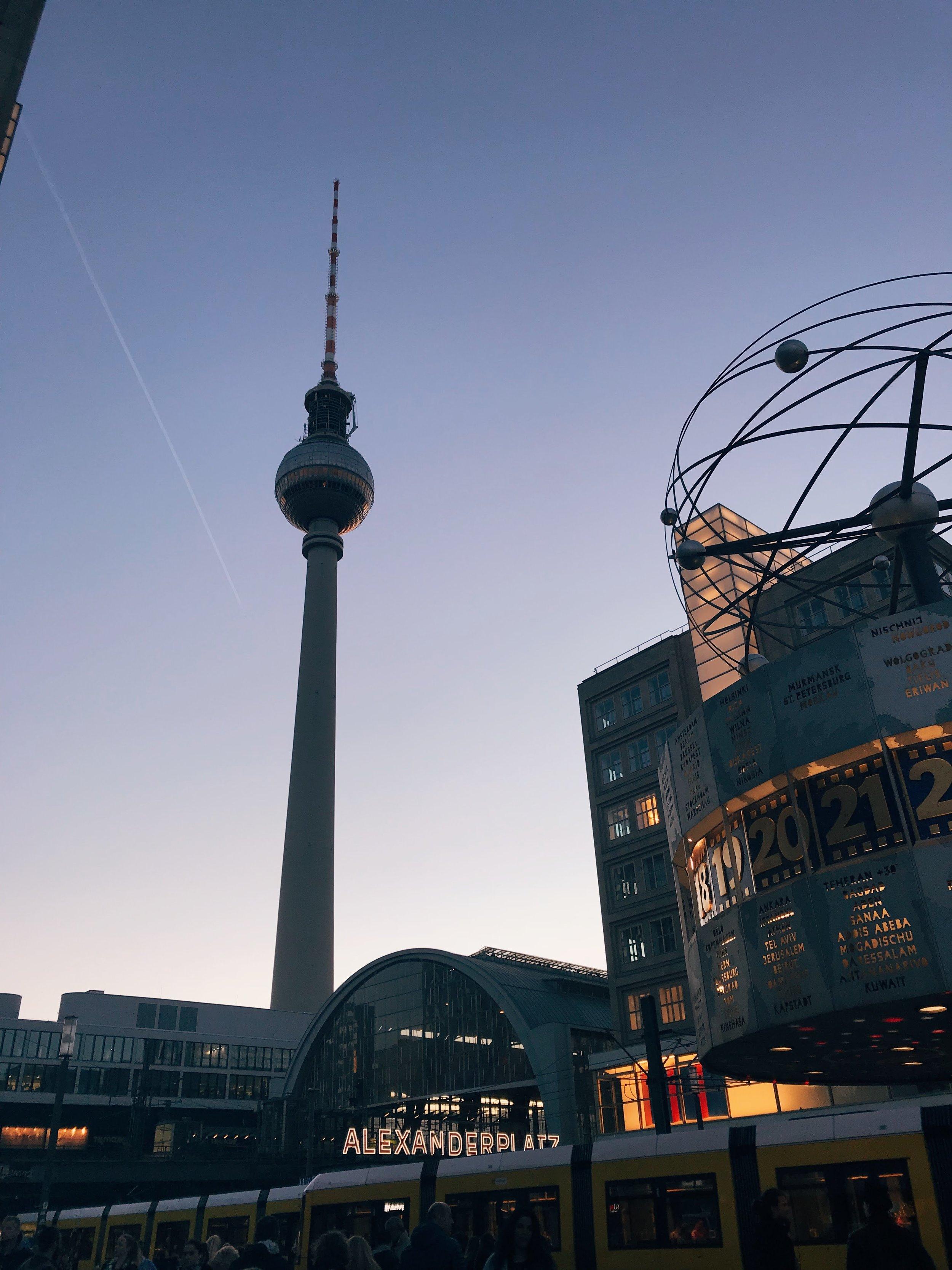 Alexanderplatz area (TV Tower)