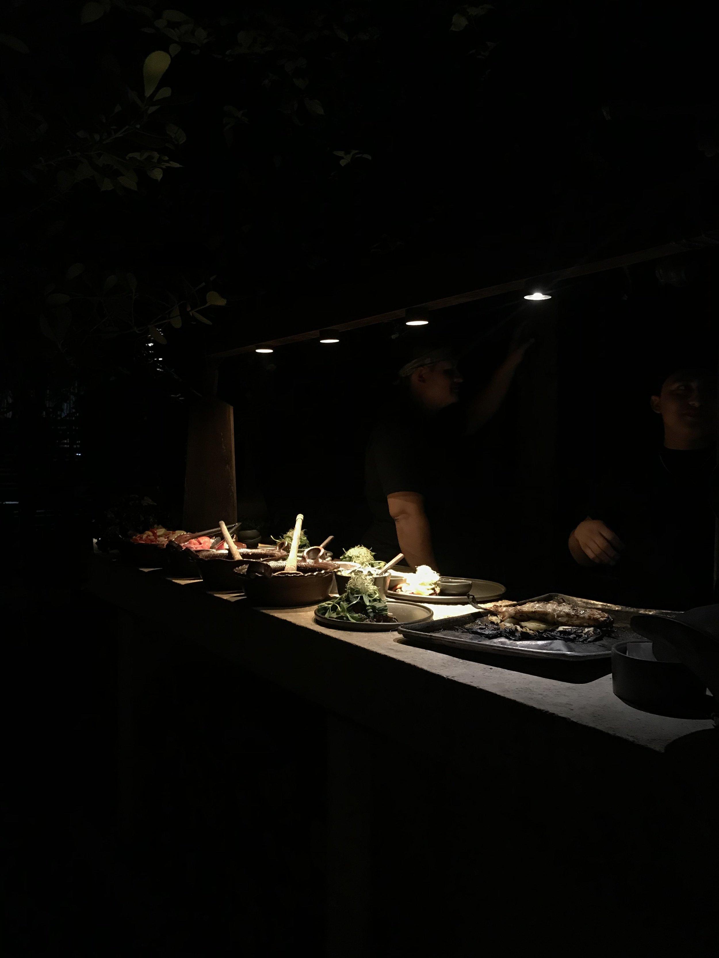 Open view of the chefs at Casa Jaguar