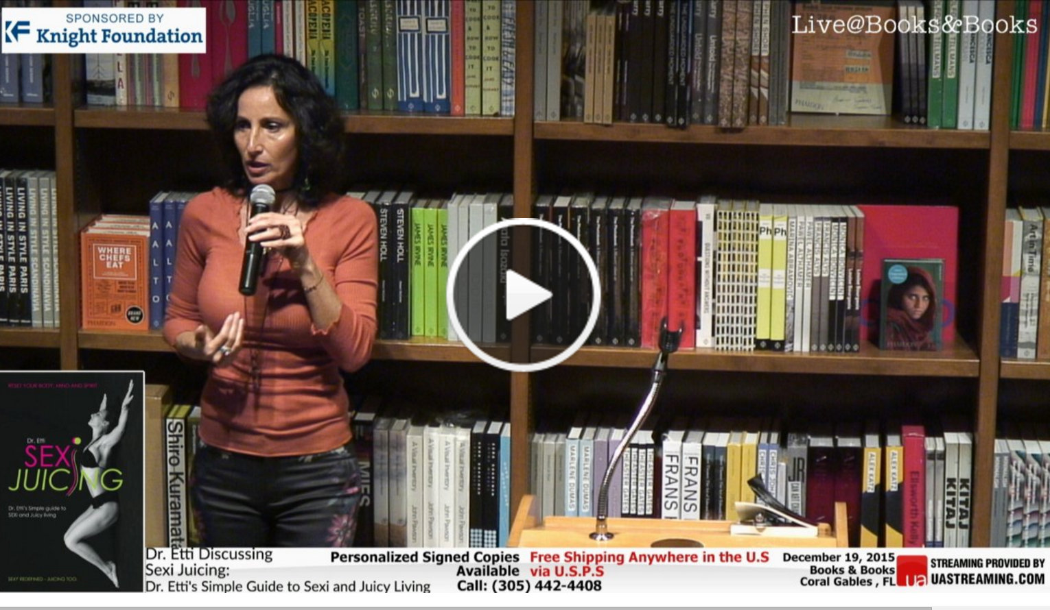 click here to watch Dr. Etti's talk at books & Books -