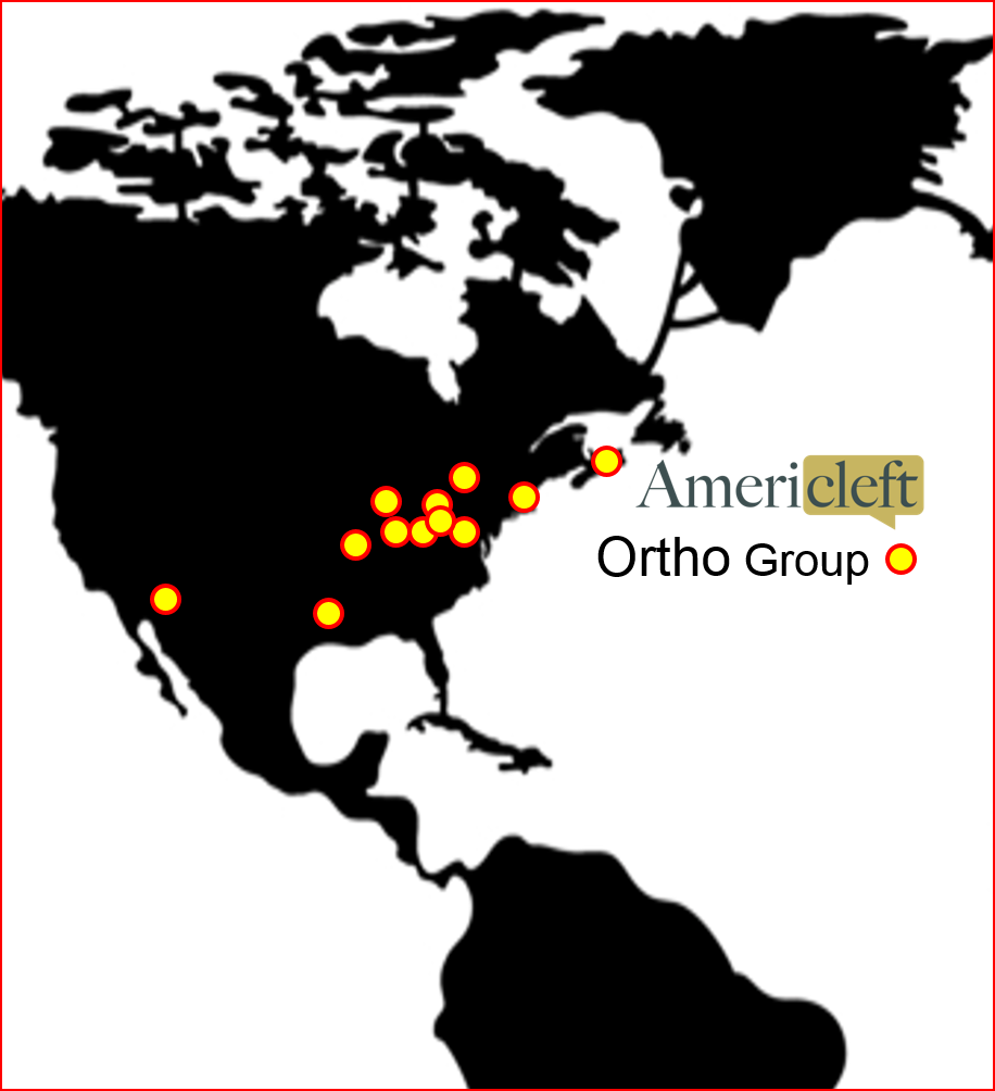 Map of Americleft Orthodontic Group Centers