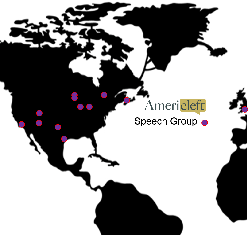 Map of Americleft Speech Group Centers