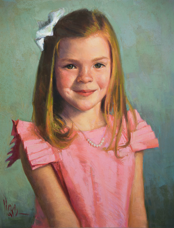 "Hazel, pastel 17x14"""