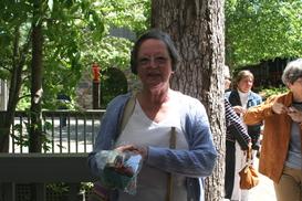 Gail Pratt chose fresh strawberries as door prize