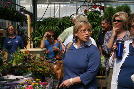 Pam remarks to group about gardening demo May 11, 2011
