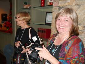 Susie and Linda have their photo snapped