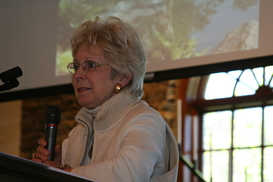 Carolyn speaks about Jim Gibbs Arbor Crest opening