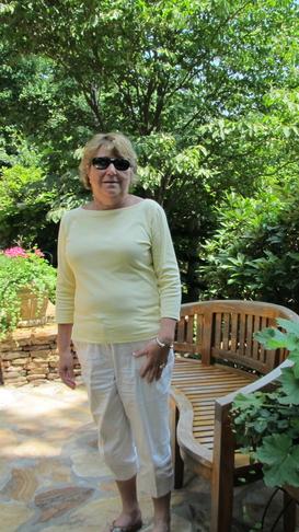 Tour Hostess, Virginia, at Dave Jacobs Garden