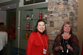 Christine and Linda at holiday luncheon December 7