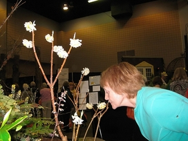 Pam at SE Flower Show