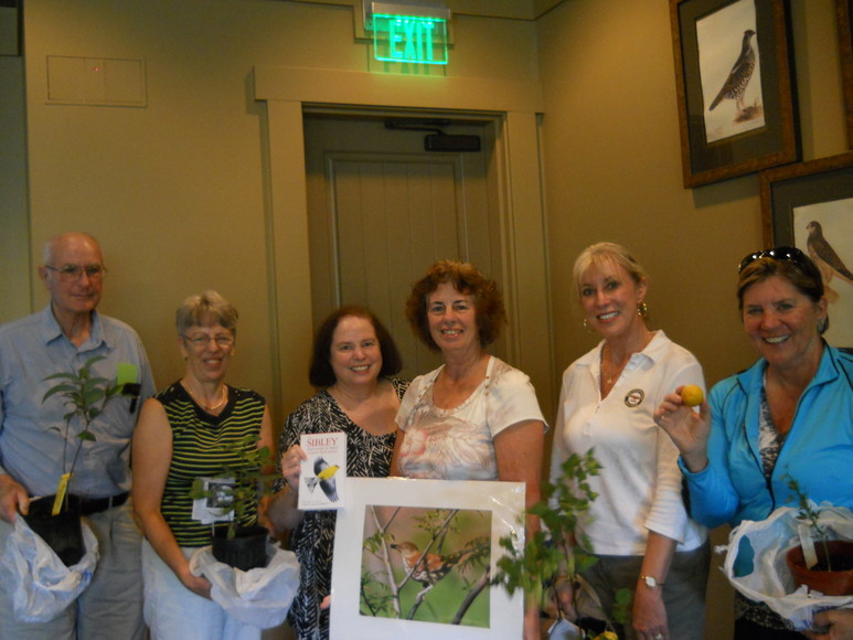 Prize winners in August: Jim Patterson, Jean Lomax, Rose Horseley, Ginny Shoup, Robin Peterson and Lauren Grant