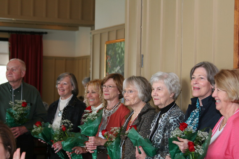 Past Presidents being honored