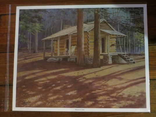 Raffle of pix of Disharoon Cabin moved by WFB