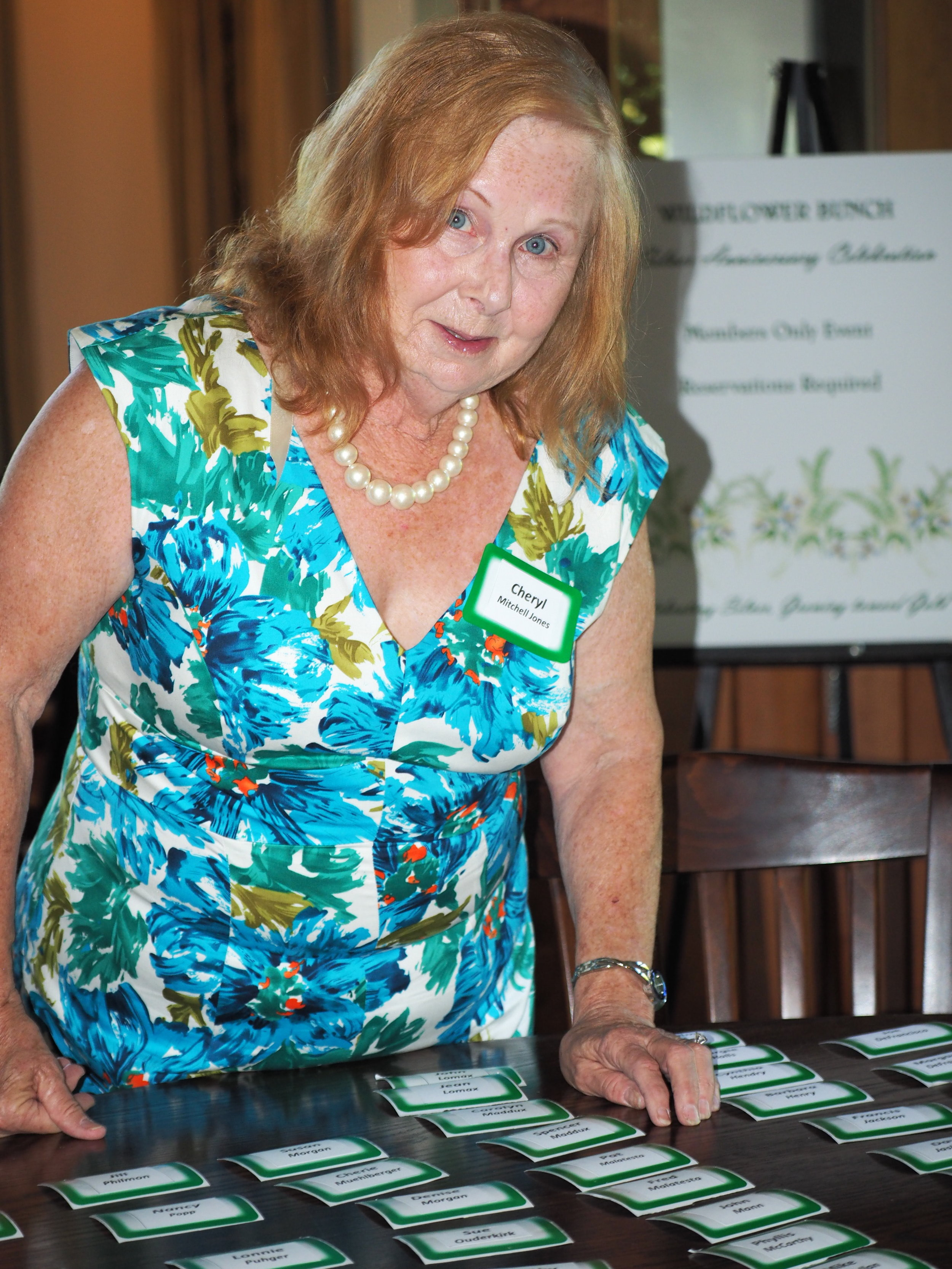 Cheryl Mitchell-Jones welcomed members and guests as they arrived.