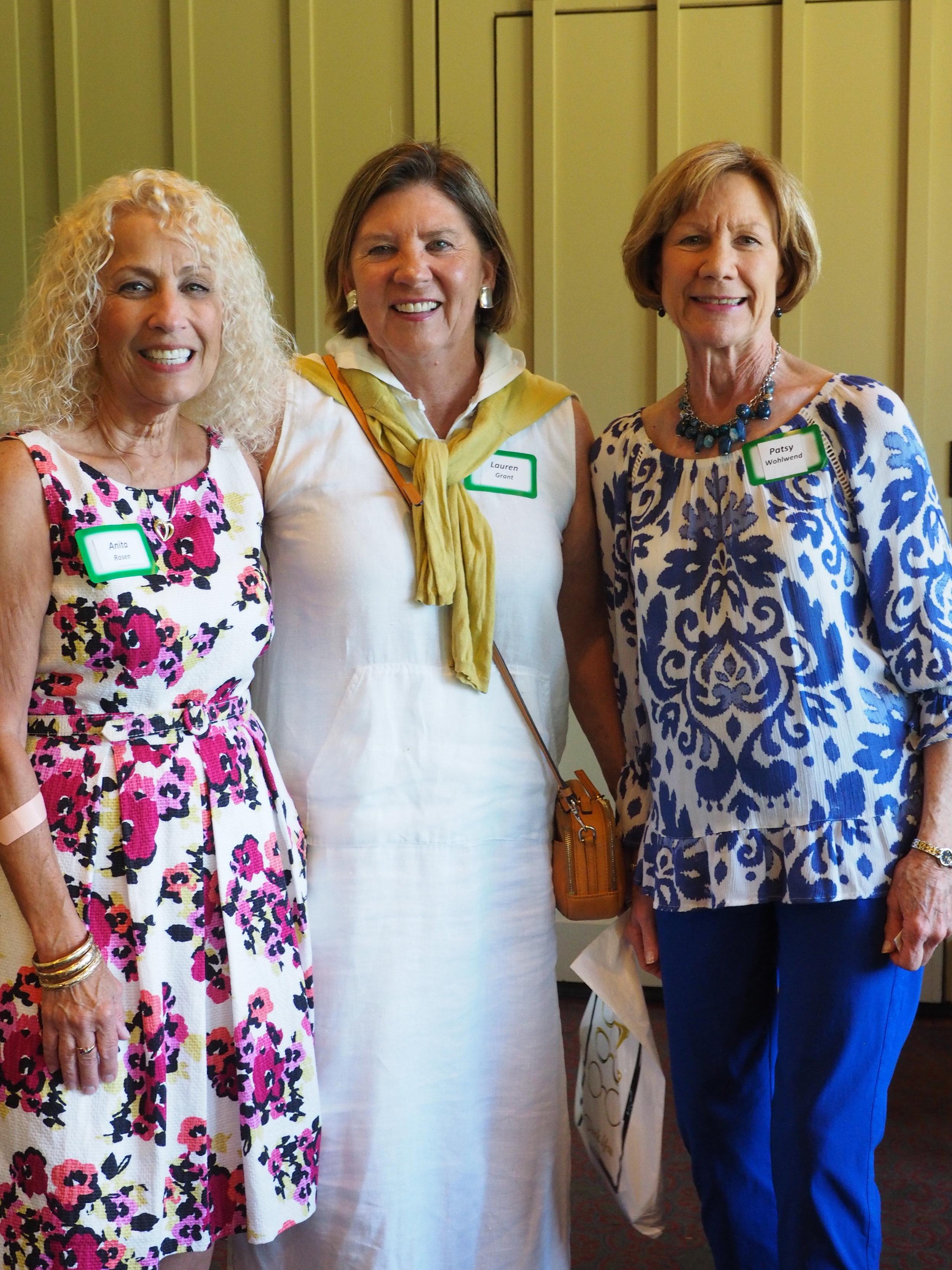 Anita Rosen, Lauren Grant and Patsy Wohlwend