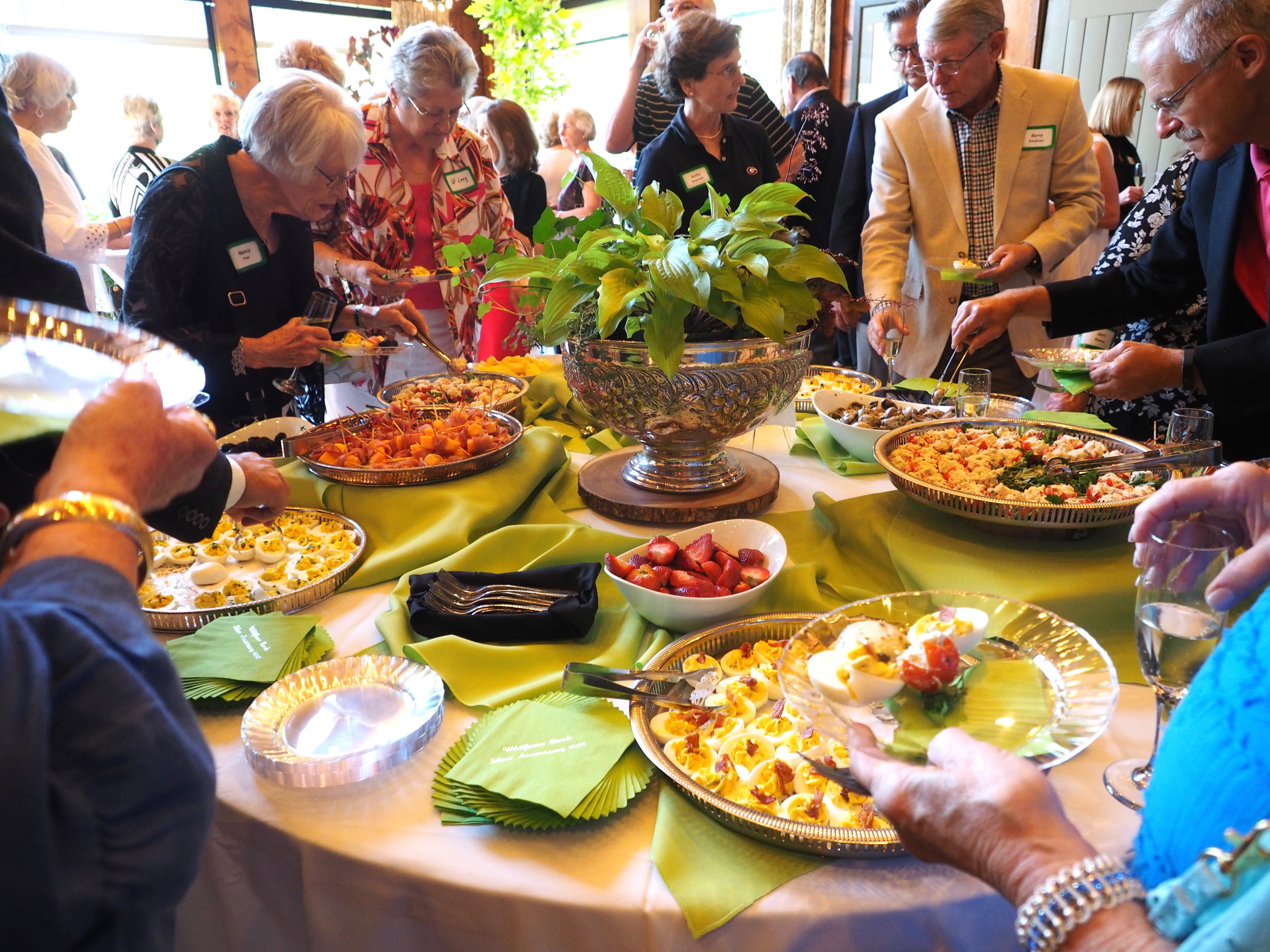 Following the conversation and toast with the Dooleys, WFB celebrants  	enjoyed a beautiful array of appetizers and more conversation.