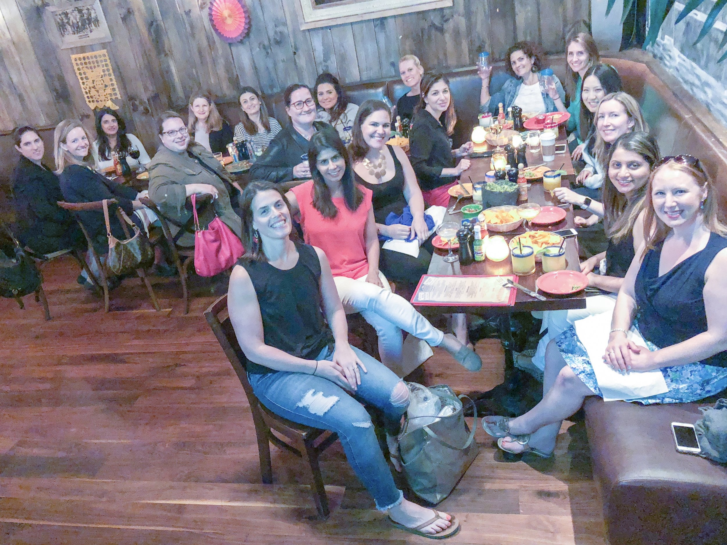 Moms' Night Out - Every mom deserves a night out! So put someone else in charge of bedtime and treat yourself to a well-earned drink and bite that you can enjoy in peace while getting to know other moms. Held monthly.