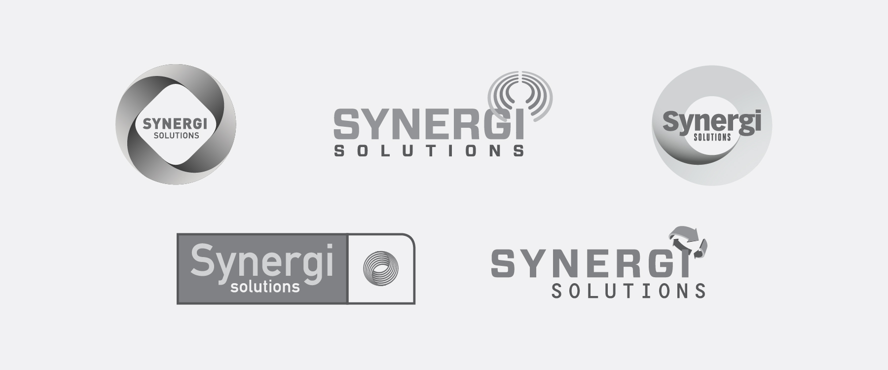SYNERGI SOLUTIONS SOFTWARE COMPANY LOGO AND LOGO STUDY