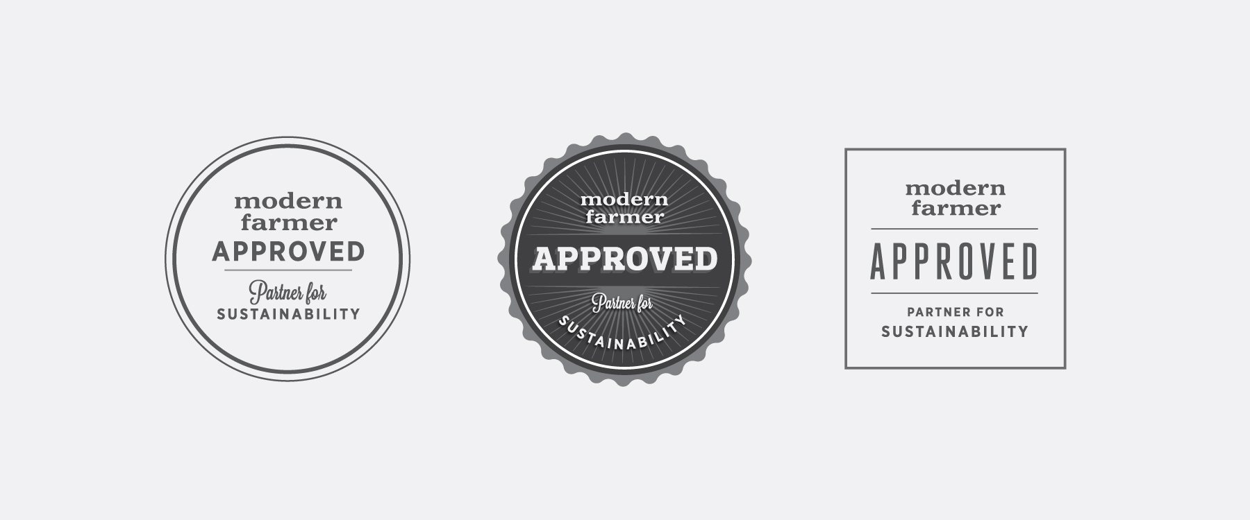 MODERN FARMER APPROVAL SEAL AND LOGO STUDY