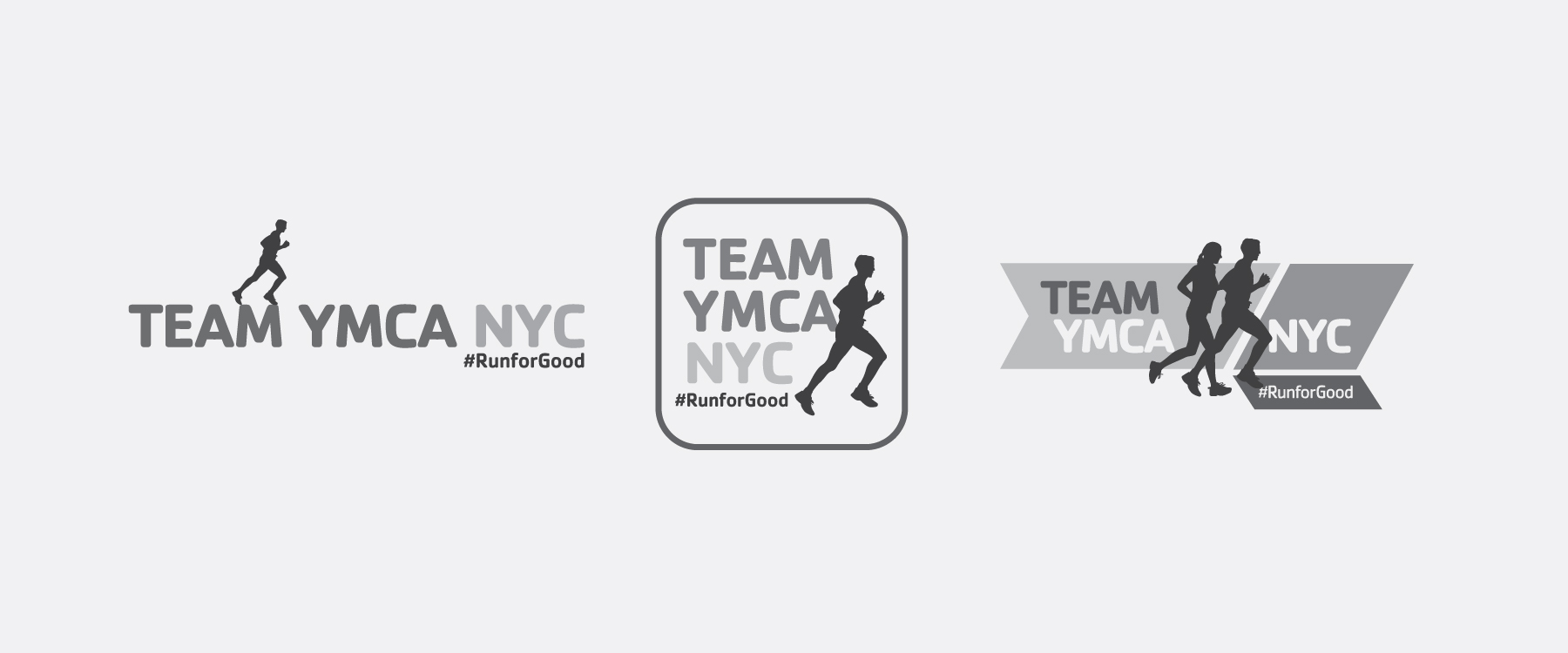 YMCA TEAM MARATHON LOGO AND LOGO STUDY