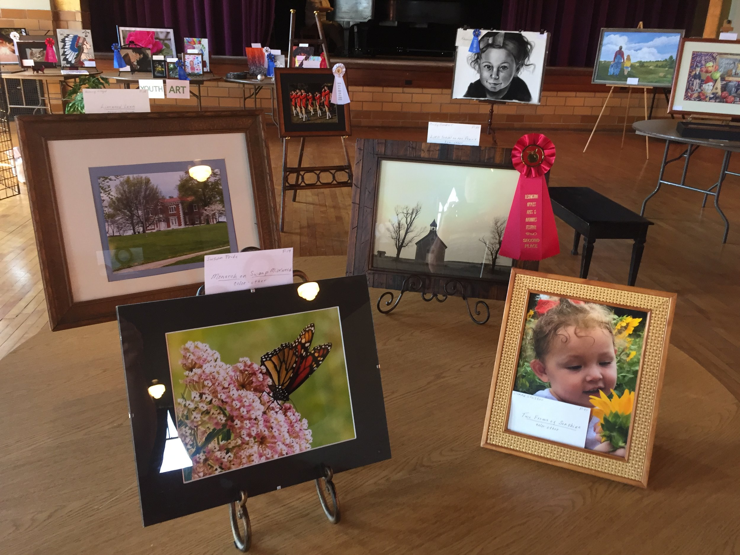 Annual Art Show, 2017. With over 90 contestants, the beautiful art was on display at The Lex Auditorium. We also included a youth art show. Hosted by the arts council, we brought in a judge and awarded first through third place prizes.