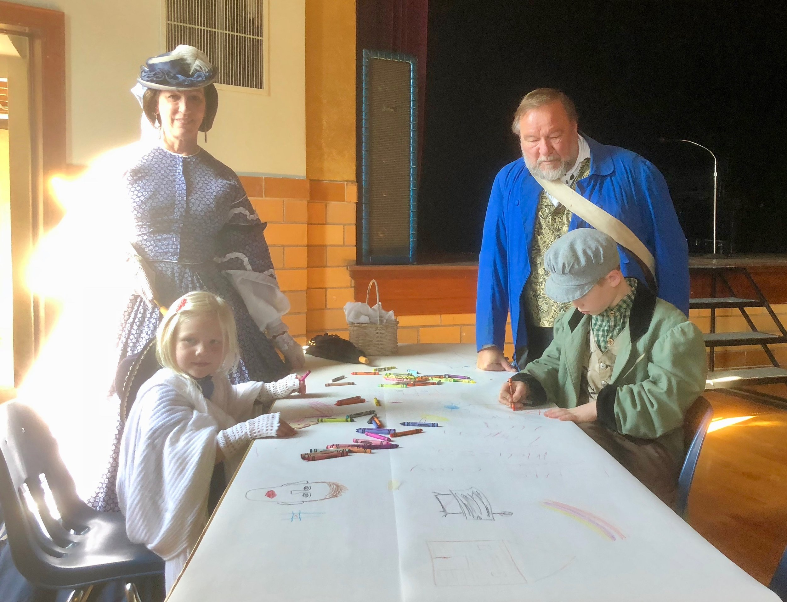 Visitors participate at our crafts tables at Living History of Civil War event in Lexington. -Oct '18