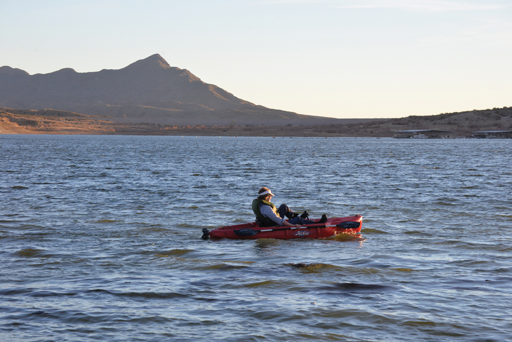 Kayak on Elephant Butte Lake