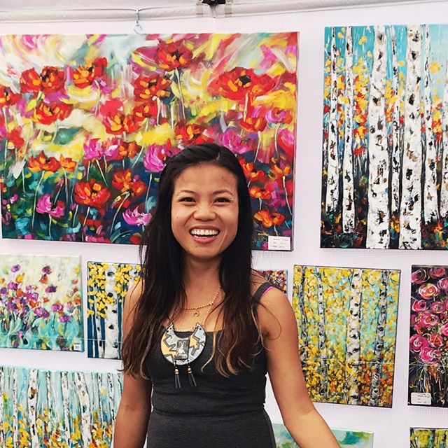 Just a few more artists for you to get to know before the big day on Saturday!!☀️🎉 • Ha Tran-Wiles, a semi-abstract and impressionist painter, grew up on the beaches of a small town in Vietnam, where she would revel in the sights and sounds of the ocean. Today, using an intimate knowledge of colours and textures, she celebrates nature. Bold and vibrant, her expressive use of pigment invokes the joyous feeling her art is known for. • Gail Rau, a resin artist, will be displaying her work alongside her daughter and son-in-law, Sunday and Nathan Starchuk, from Blue Ocean Designs, whose strong interest in woodworking and art led them to where they are today. While a collaboration project is their dream, they will still all be bringing some very unique, custom pieces to their first Strathearn Art Walk. • Danielle Waschuk loves the colours of the sea and sky, and the calming, yet uplifting flow they create together. Born with Muscular Dystrophy, Danielle has been limited with what she is able to do. Having always loved to paint, she is now not only selling art, but is able to enjoy the feeling of self-accomplishment, and the euphoric responses from others.