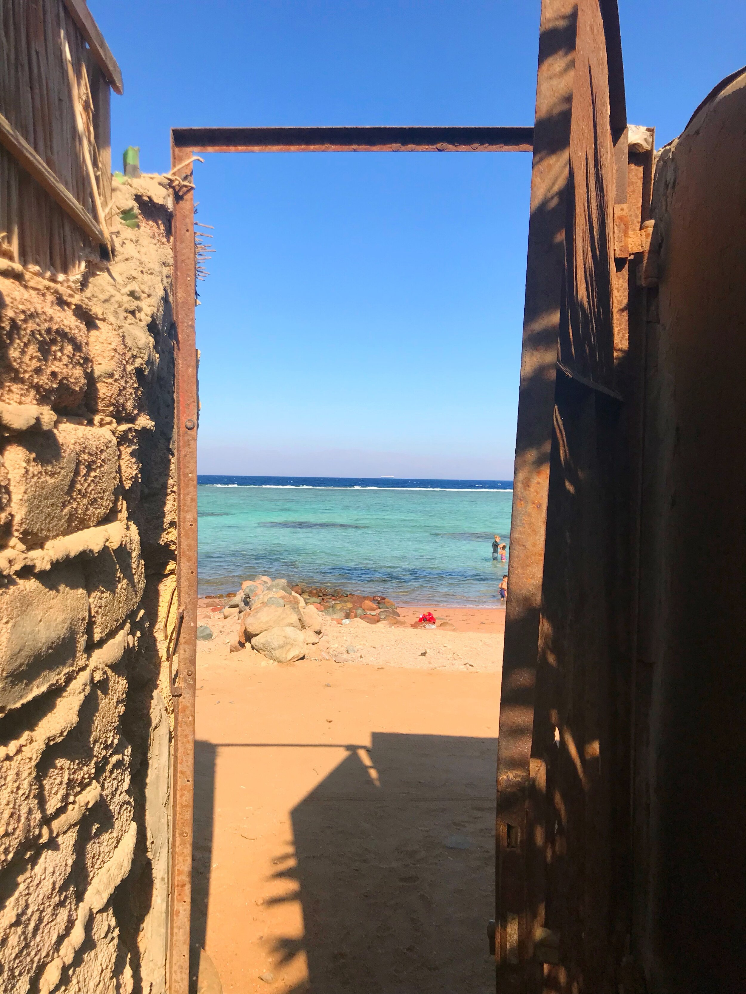 View of the Red Sea, just a short walk from our Airbnb