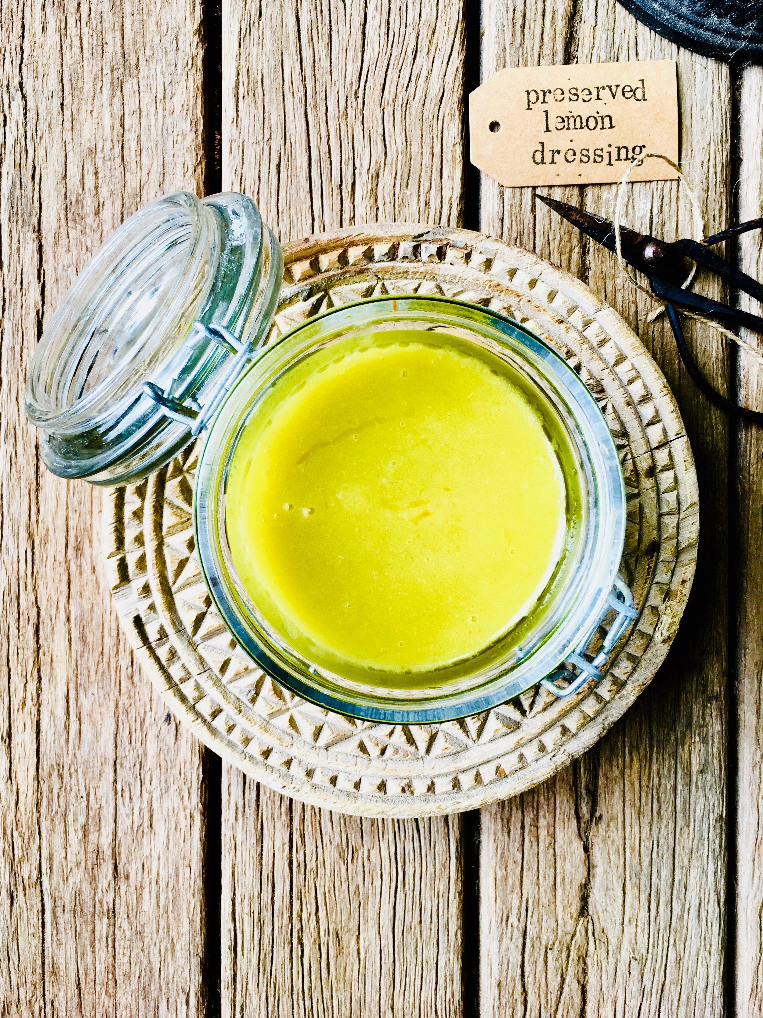 Preserved lemon dressing