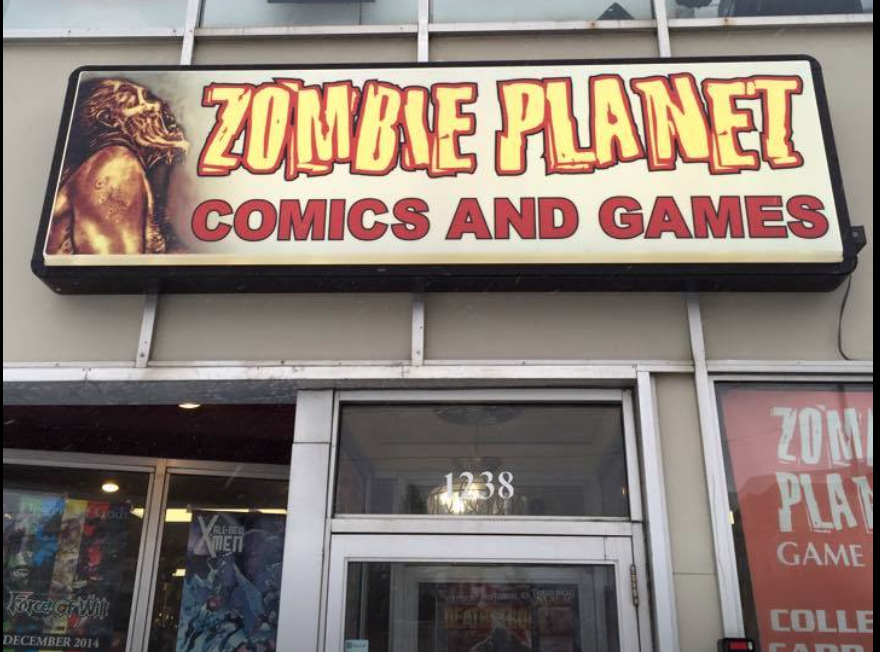 We have a wide selection of comic books and graphic novels and novelty toys, action figures and statues. As well as a large assortment of historical and fantasy /Sci-Fi board games. We specialize in roleplaying games, miniature games, collectible and non-collectible card games.