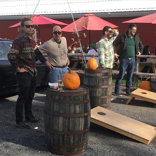 A little high-stakes, father-son cornhole warm-up volley from our super-fun gig this past Saturday at @badseedcider in Highland at their Fall Back Fest.  If the clocks have to go back, at least we got to celebrate in style and with good cider!  @ryreut @hudson_river_remnants  Thanks to #BadSeed for having us and to @bramkincheloe for hooking it up!  Hope to hang with you guys soon!  #badseedcider #cider #craftcider #Hudsonvalley #hudsonvalleycider #hudsonvalleymusic #inthekitchen #inthekitchenmusic #ITK #cornhole #fallback #hyphenate #hunkerdown