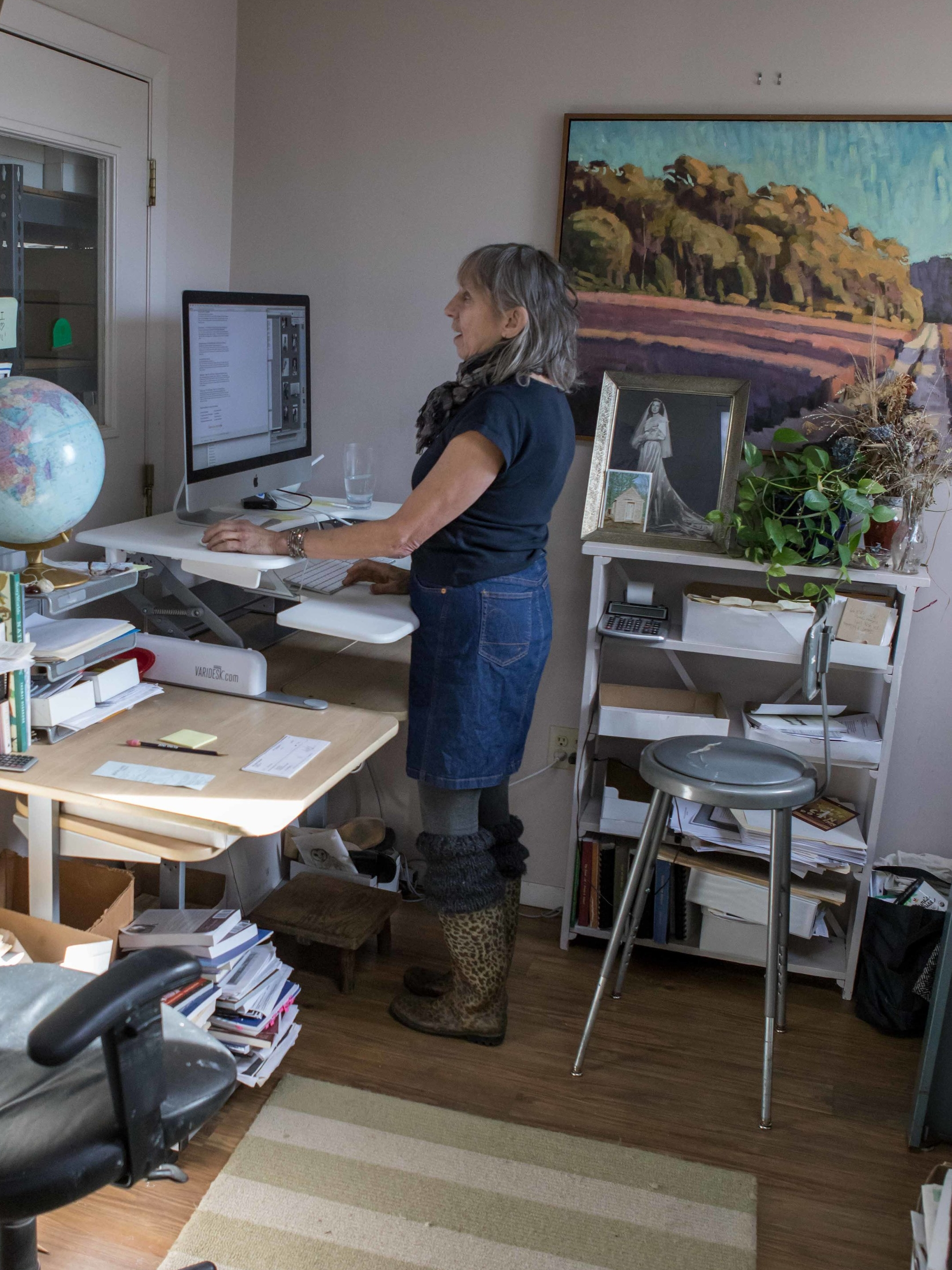 Janet Holladay - The Tisbury Printer's longest standing employee (since 1984),Janet heads the book design and special project department (of one). It's with great passion and patience that she immerses herself in her work, helping authors and organizations translate their vision onto the page.Ballroom dancer extraordinaire.