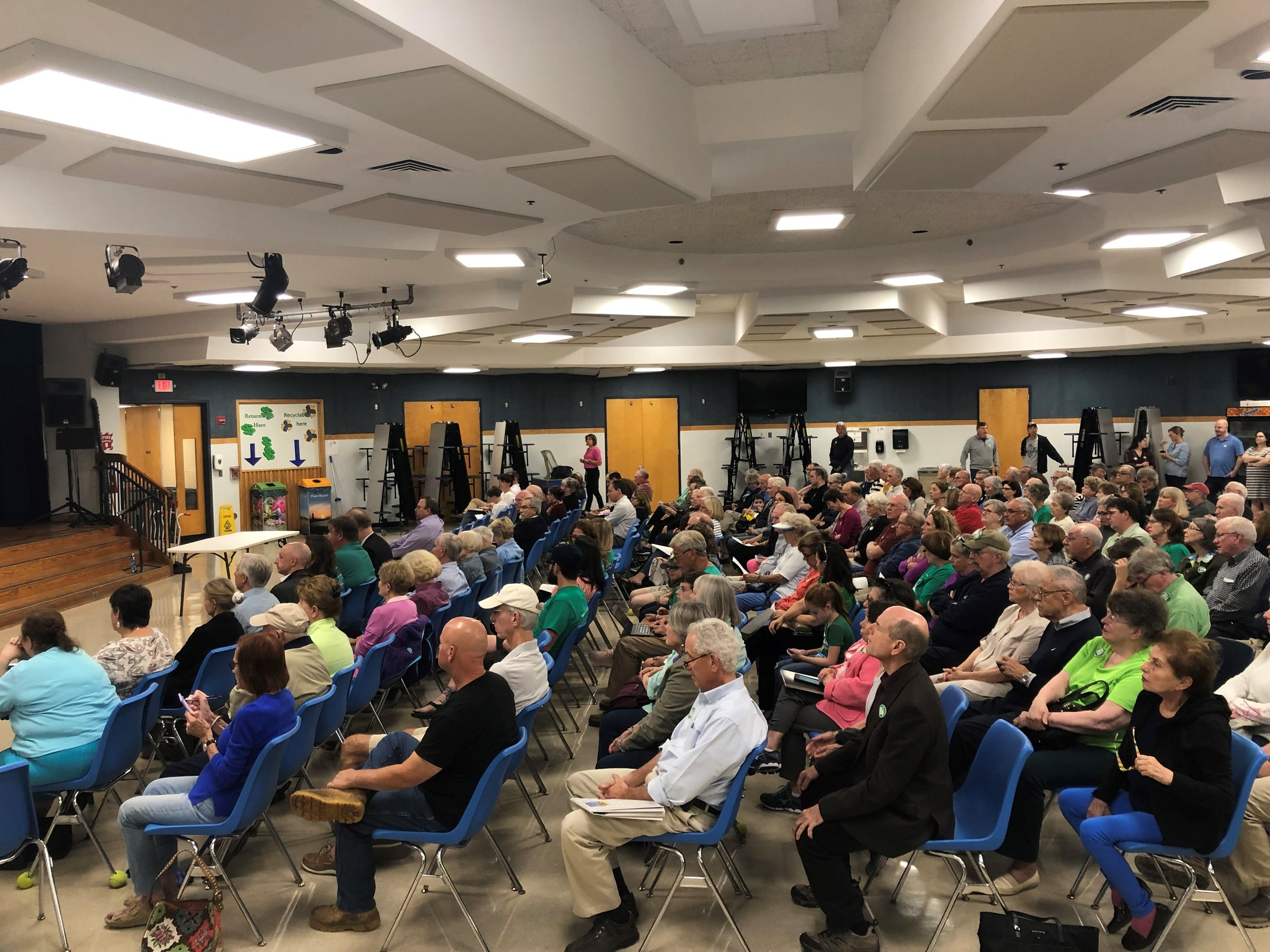 It was a packed house at the 9-10-19 P&Z meeting when the commission voted