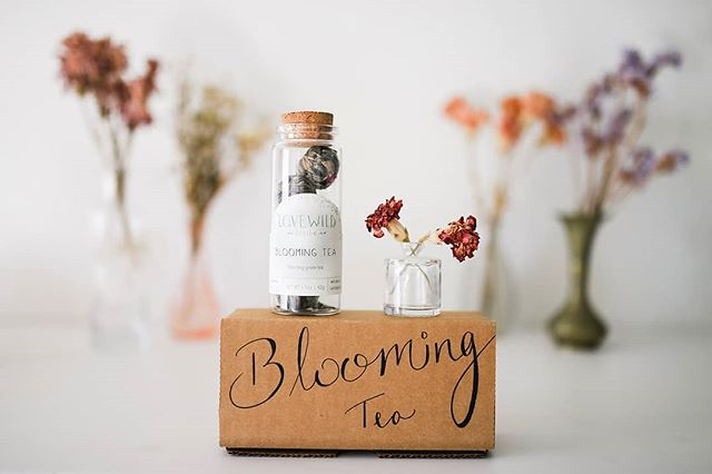 Blossoming tea by @lovewilddesign just in time for the spring.🌷