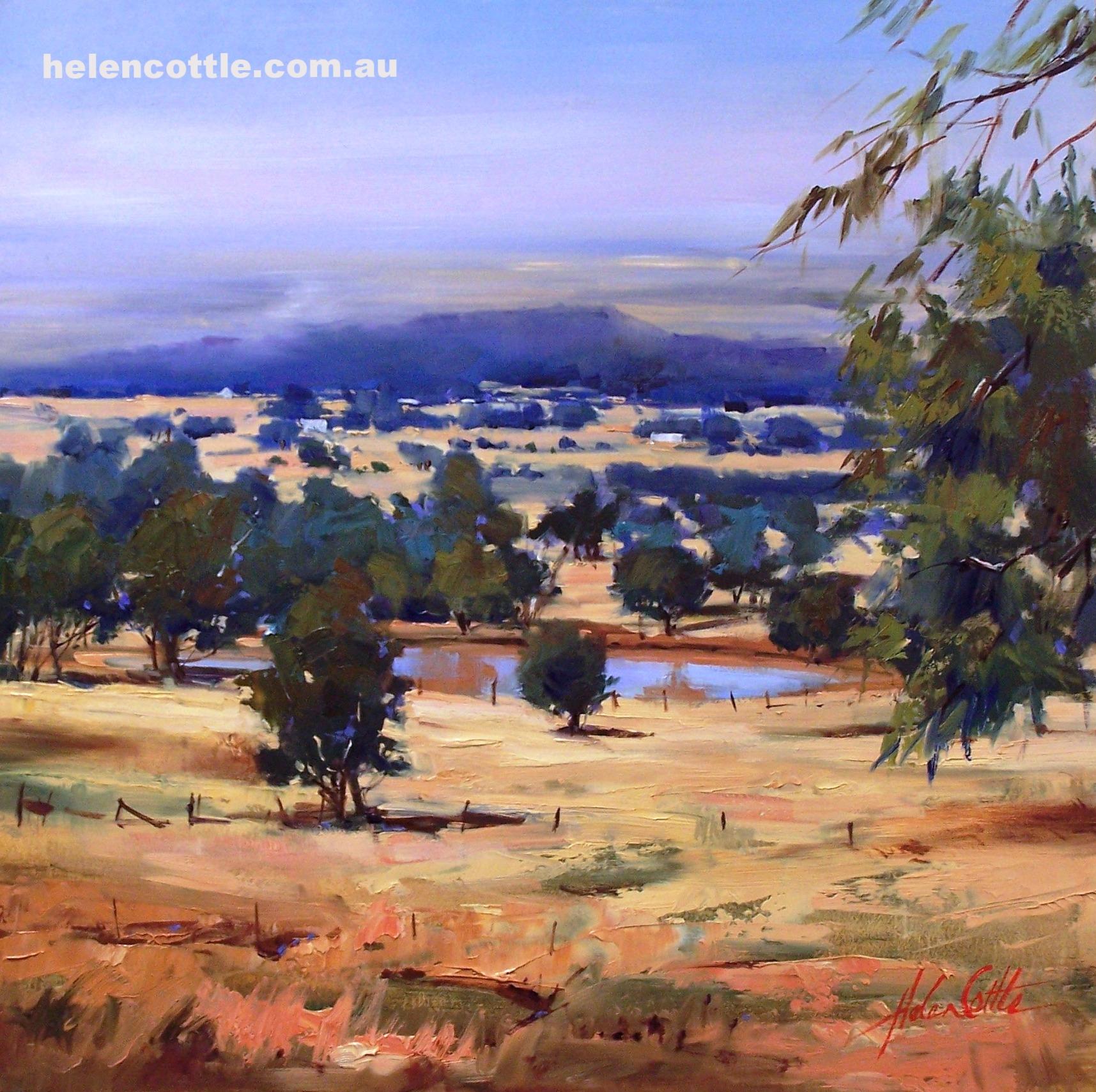 Morning view, Macedon Ranges Oil. 60x60.JPG
